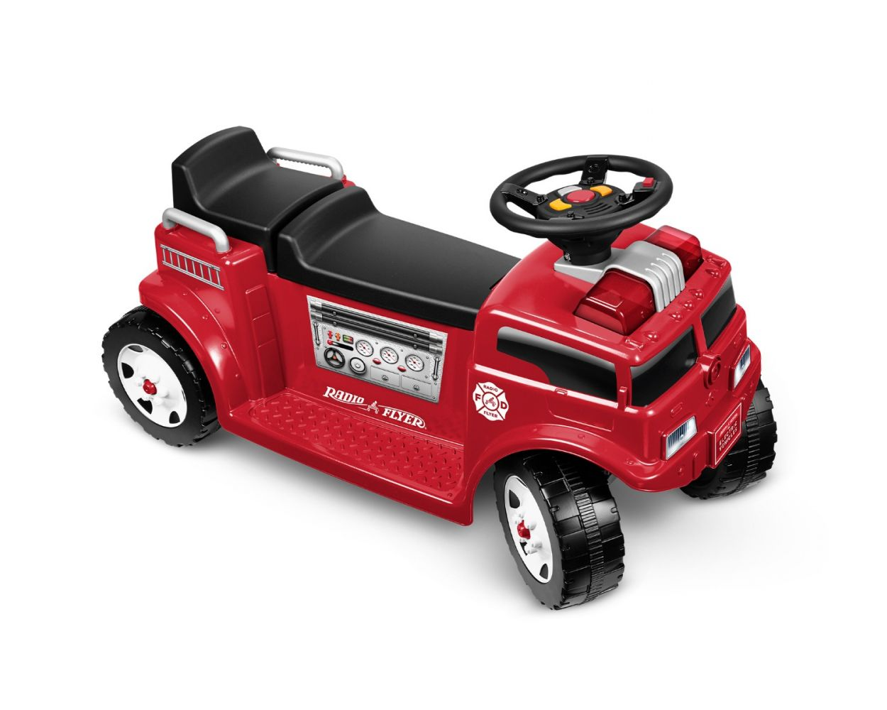 6V Battery Powered Fire Truck For 2 with Lights & Sounds